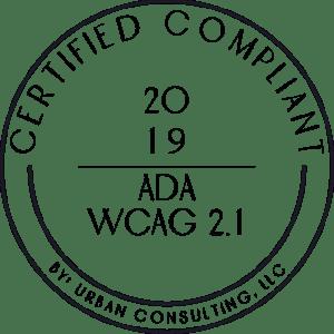 ADA + WCAG 2.2 Compliant Badge