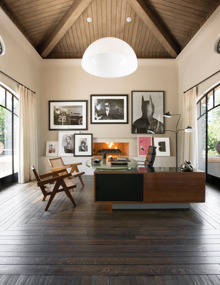 Living room with art