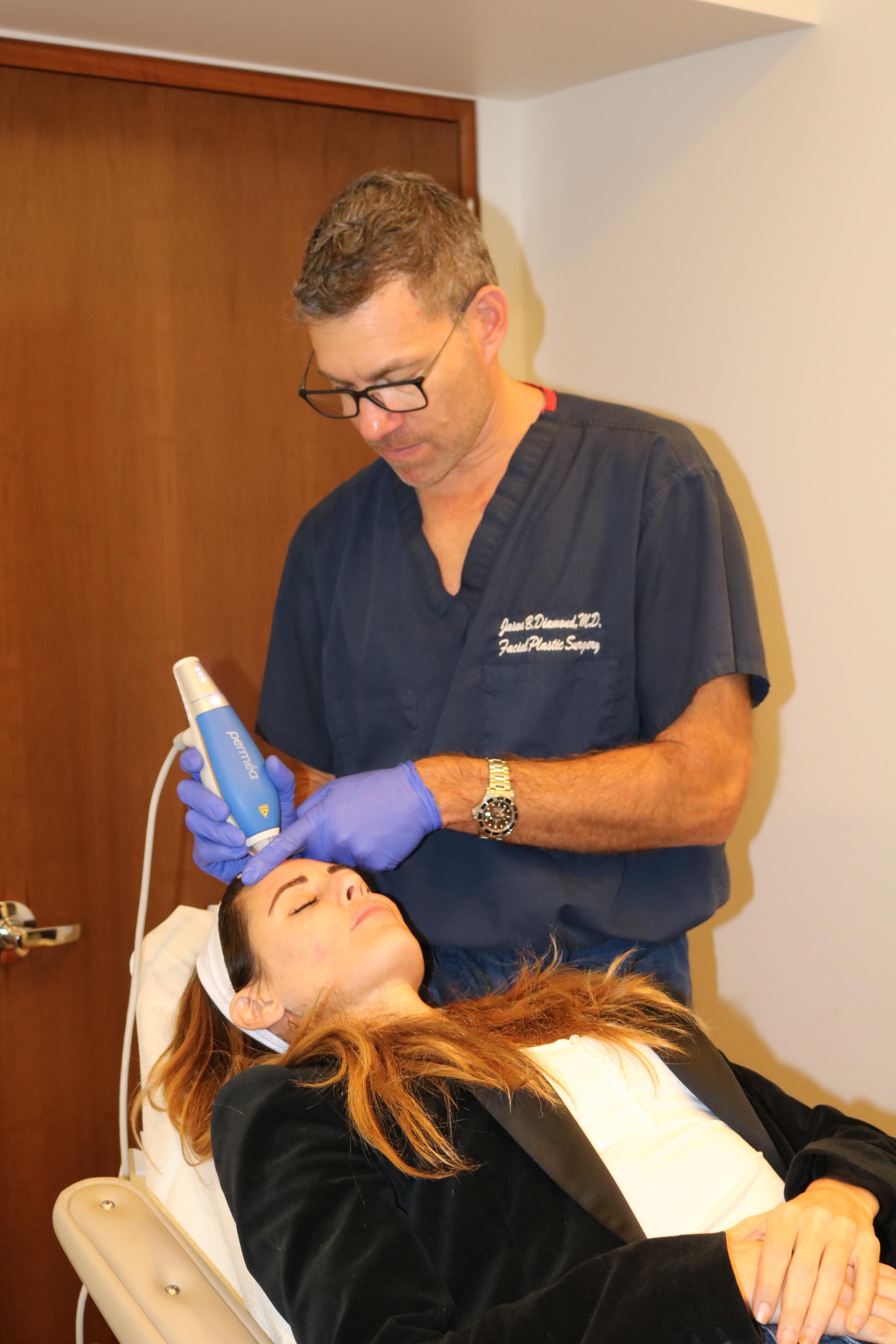 Sarah Howard getting a vampire facial