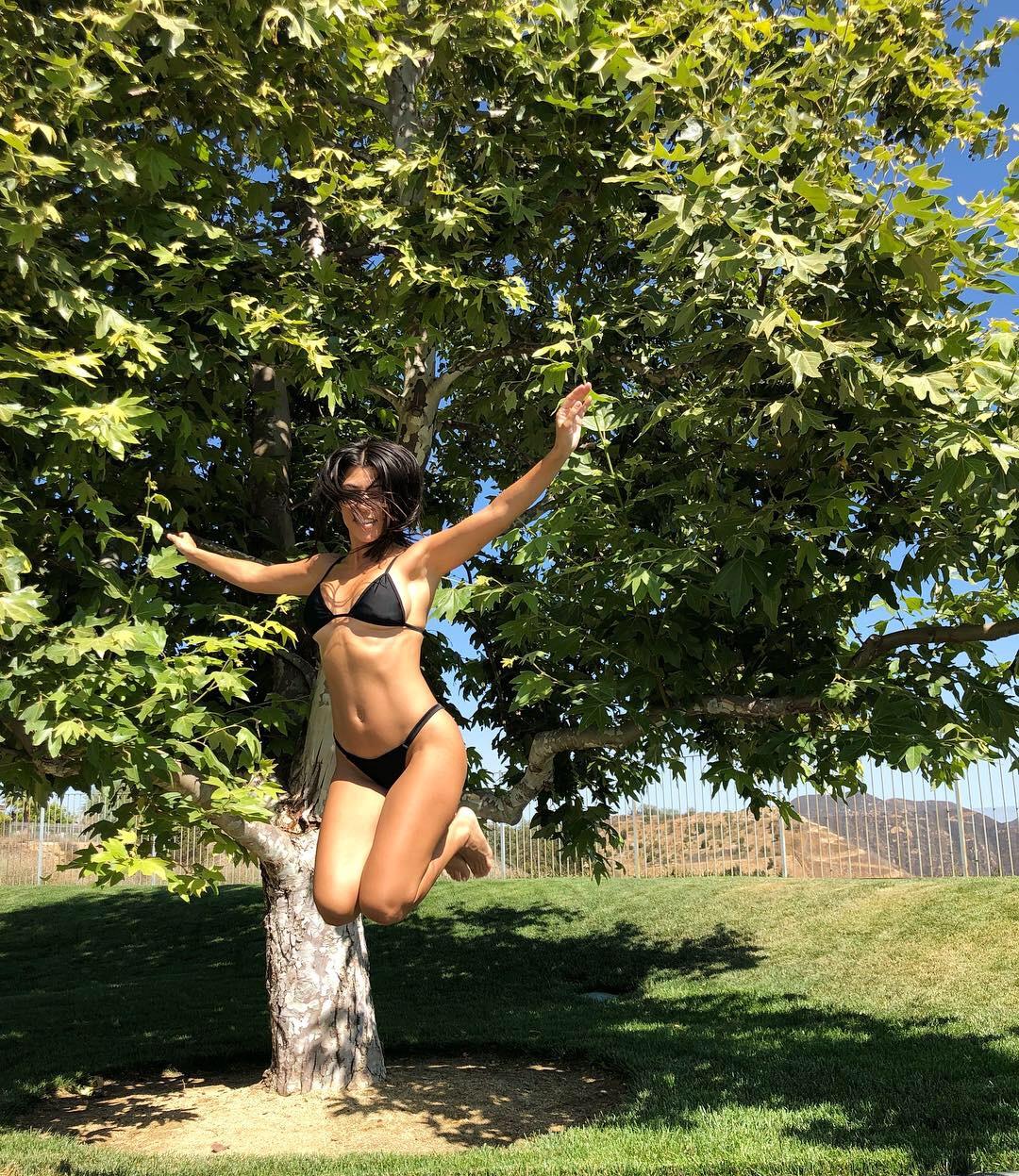 Kourtney bikini trampoline 7