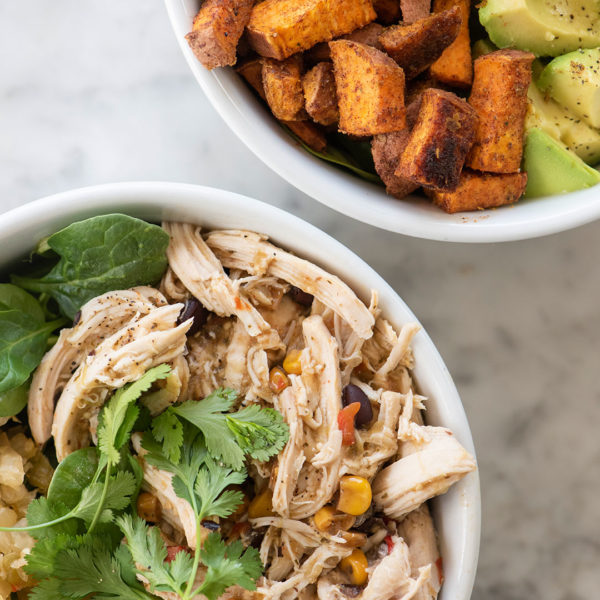 What You Need to Make Shredded Chicken Bowls