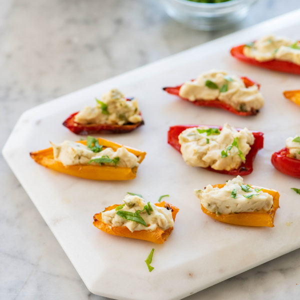 How to Make Vegan Jalapeño Cream Cheese Stuffed Peppers