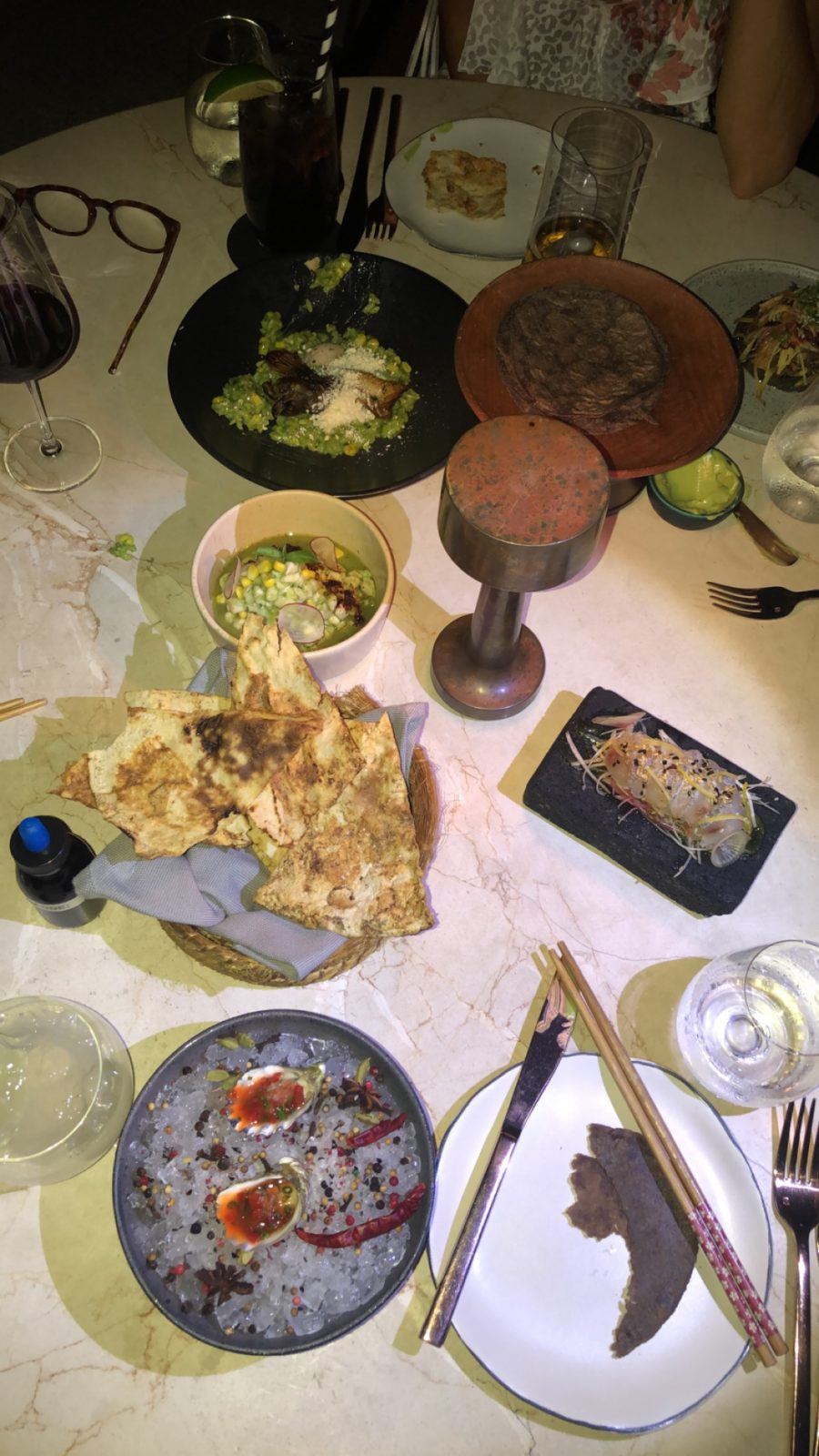 table of food at Comal in cabo