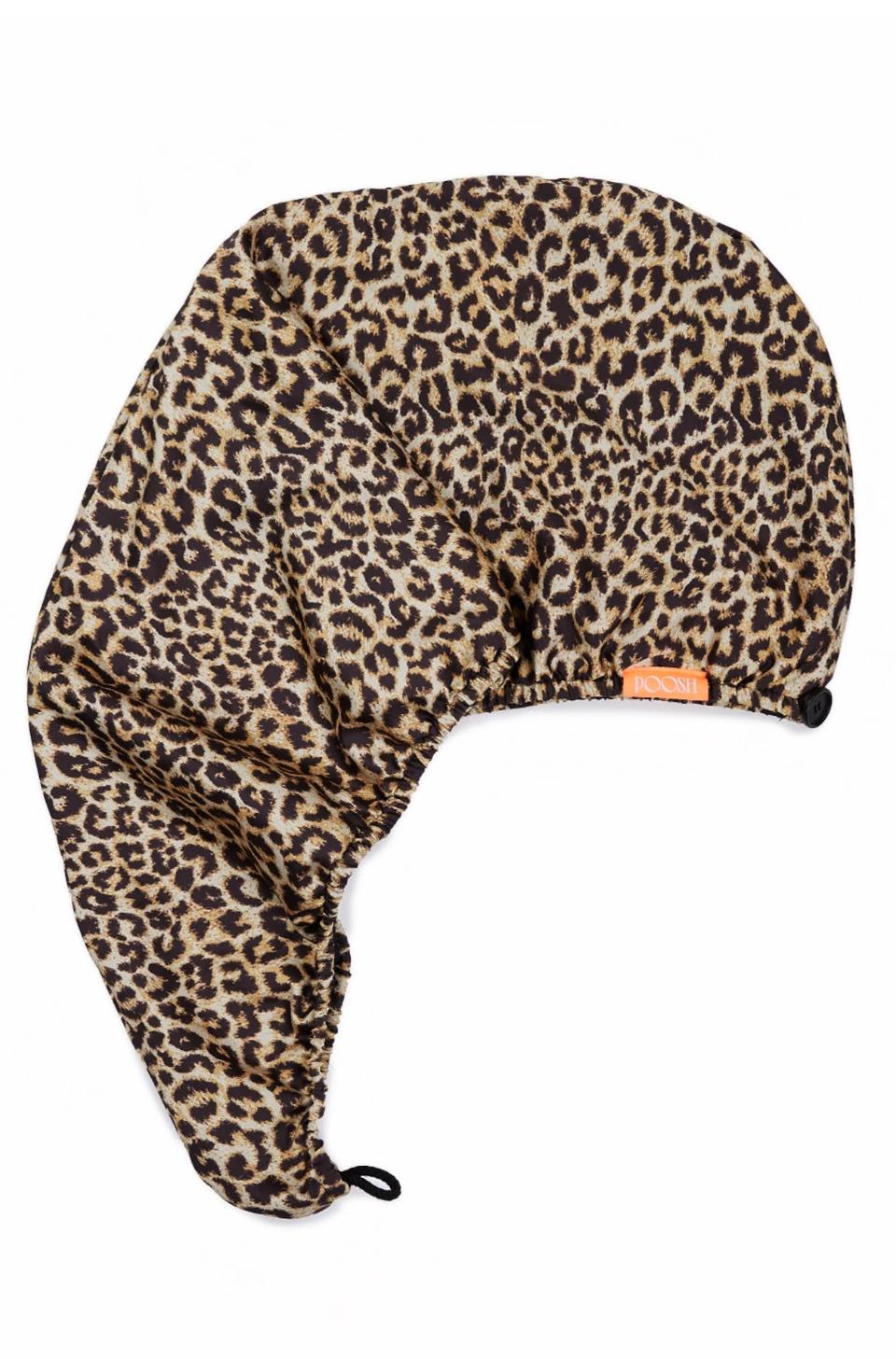 Aquis x Poosh Rapid Dry Leopard Hair Turban