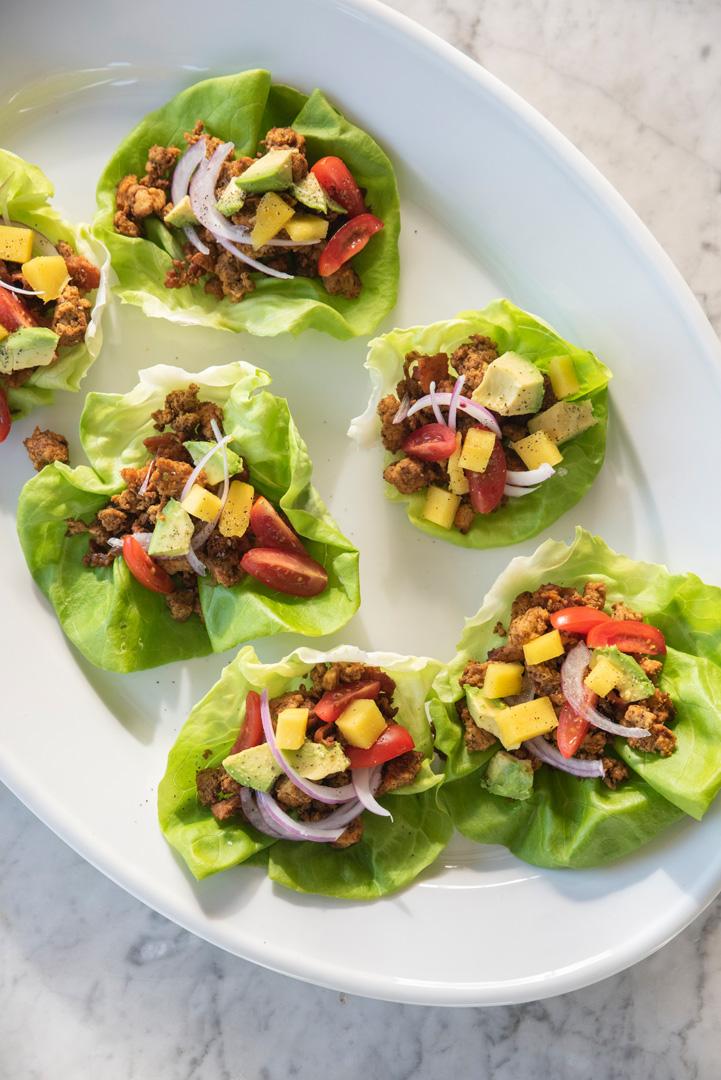 Gluten-Free Turkey Taco Lettuce Cups