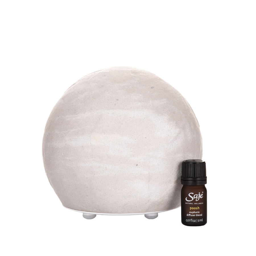 Saje x Poosh Positively Poosh Ultrasonic Diffuser Kit in White $100