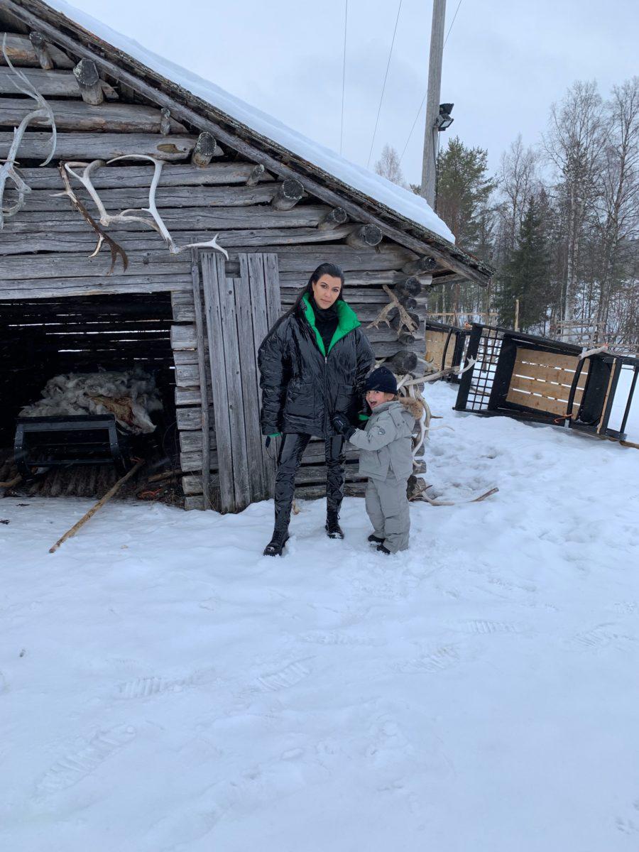 Kourtney Kardashian on trip to Finland