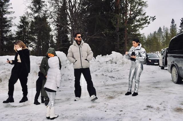 Kourtney Kardashian on vacation in Finland with ex Scott Disick.