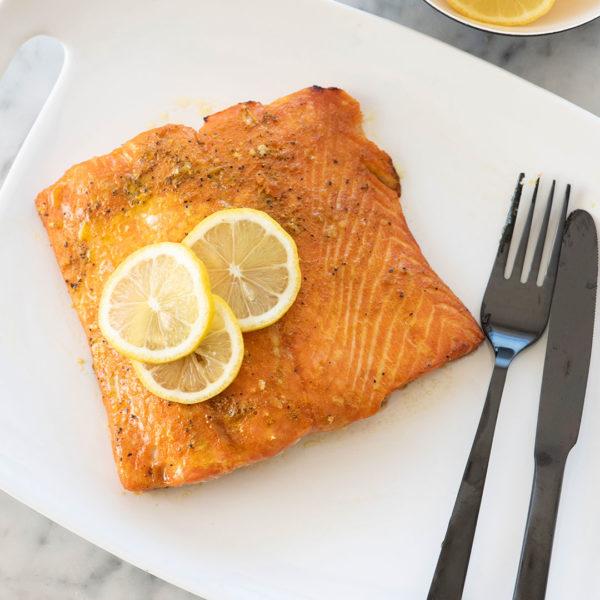 Manuka Glazed Turmeric Salmon
