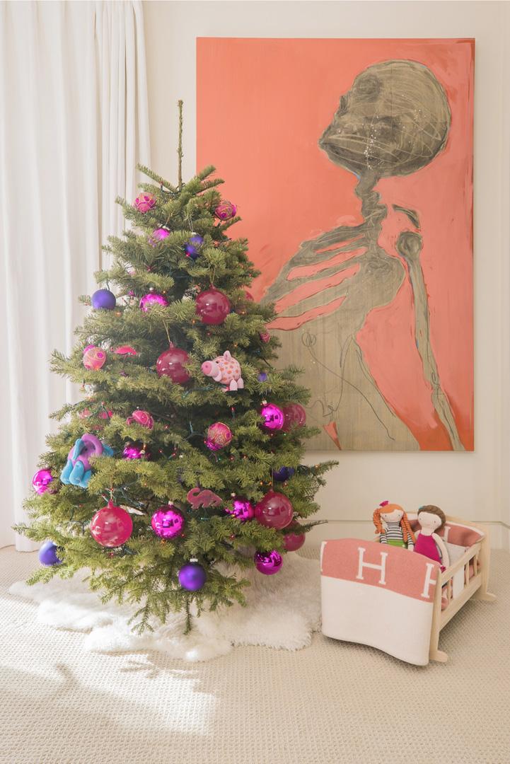 Christmas Tree in Penelope Disick's room