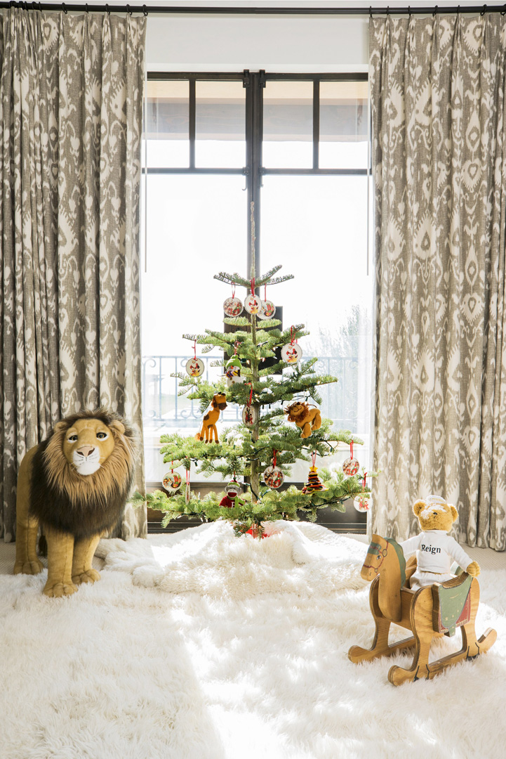 Christmas Tree in Reign Disick's room