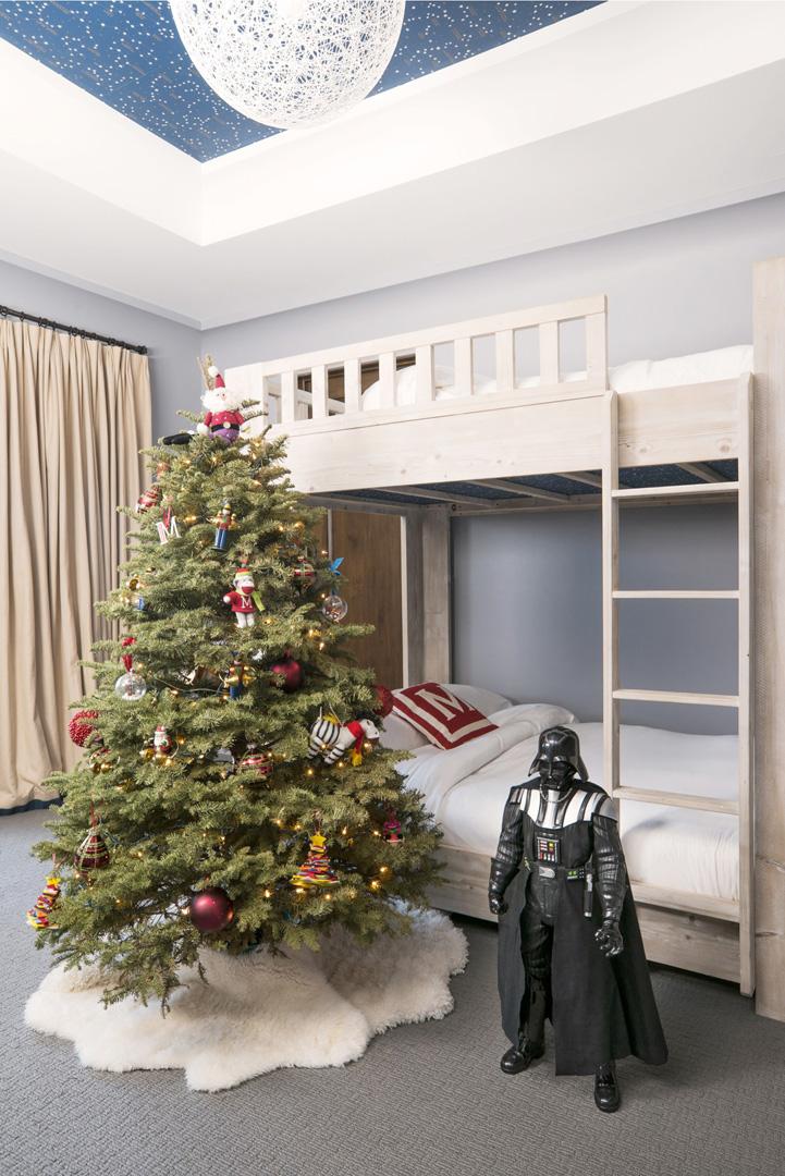 Christmas Tree in Mason Disick's room