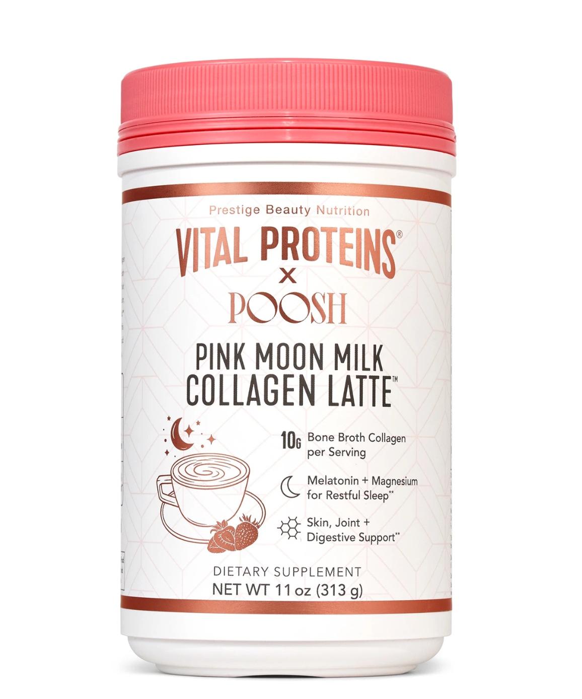 Vital Proteins x Poosh Pink Moon Milk Collagen Latte