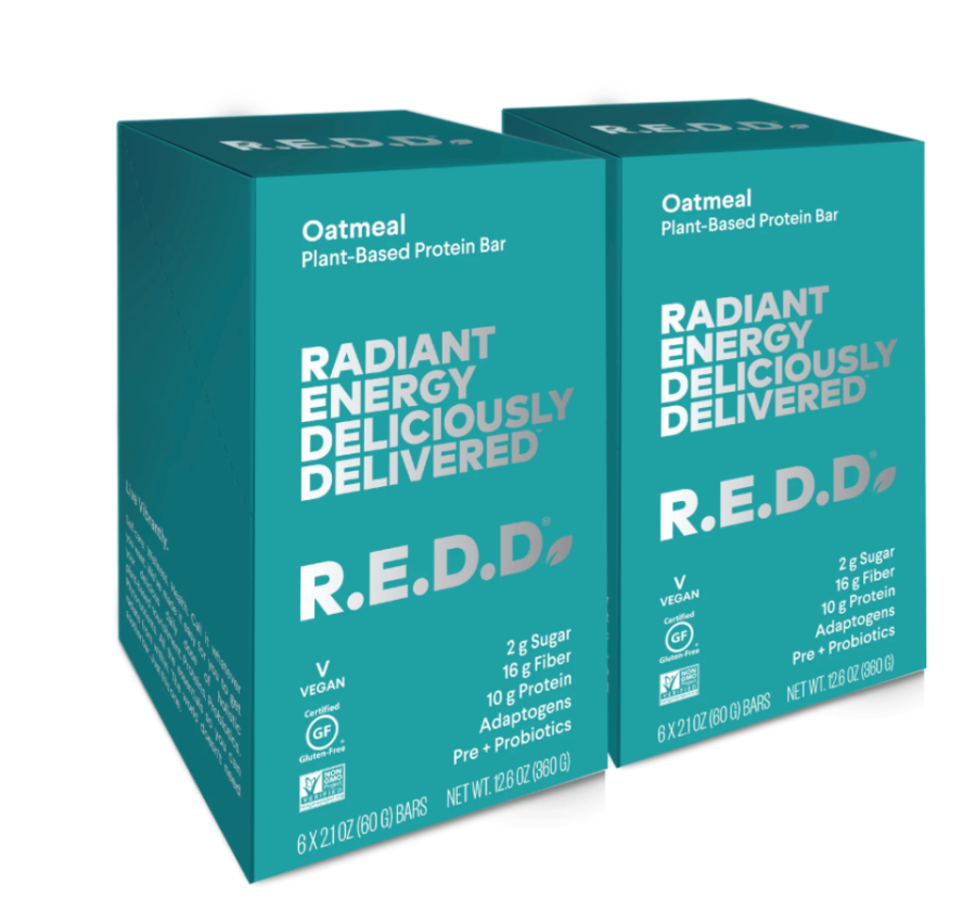 R.E.D.D. Bar Oatmeal Plant-Based Protein Bar - 12 Pack $36