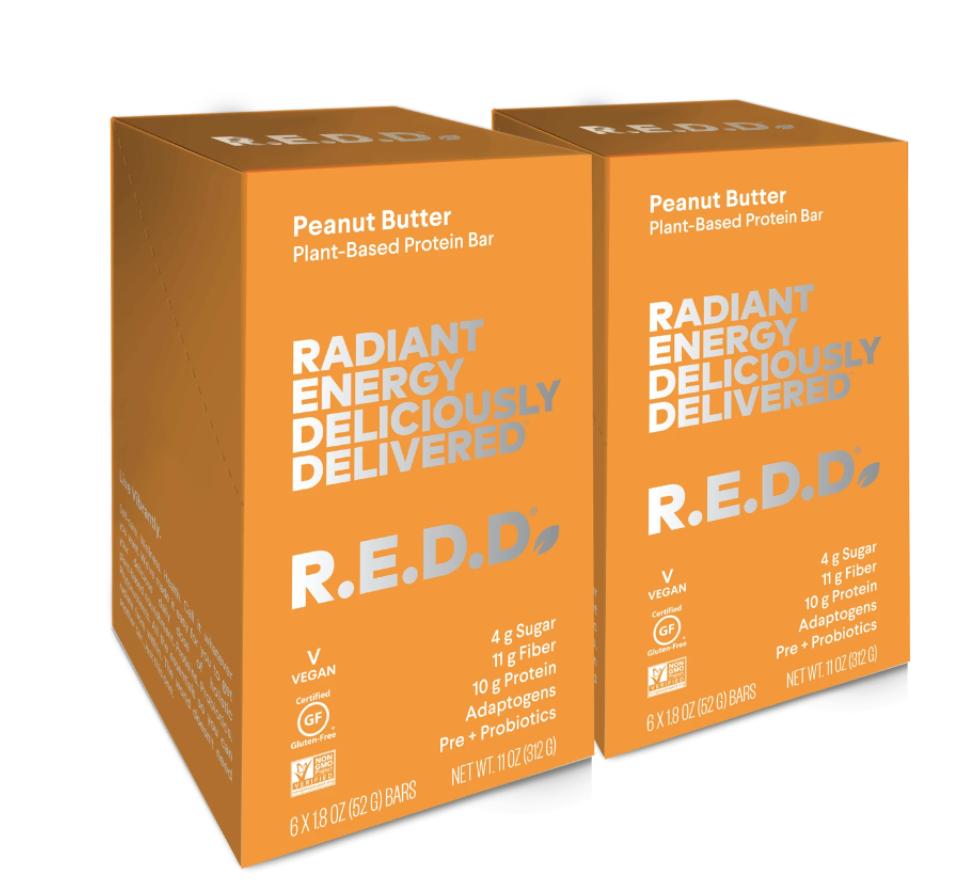 R.E.D.D. Bar Peanut Butter Plant-Based Protein Bar - 12 Pack $36