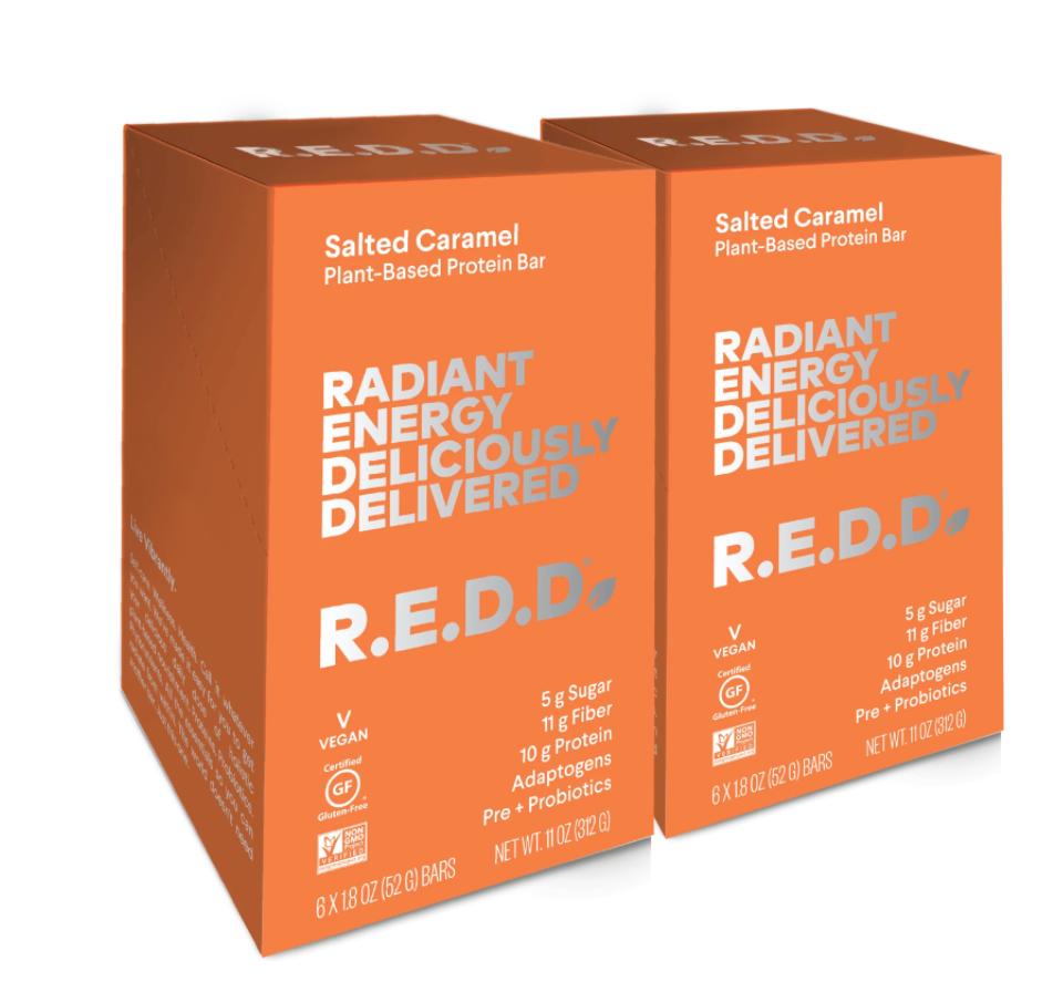 R.E.D.D. Bar Salted Caramel Plant Based Protein Bar - 12 Pack $36