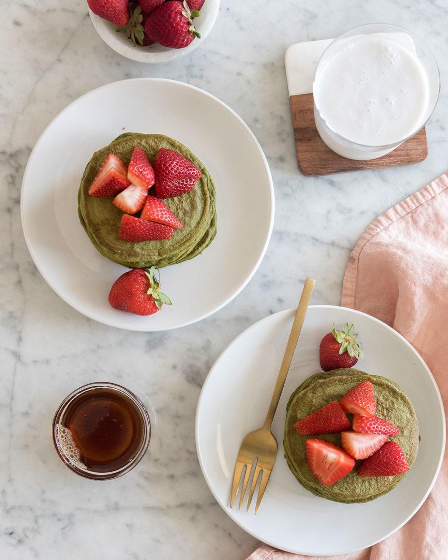 Gluten-Free Matcha Pancakes