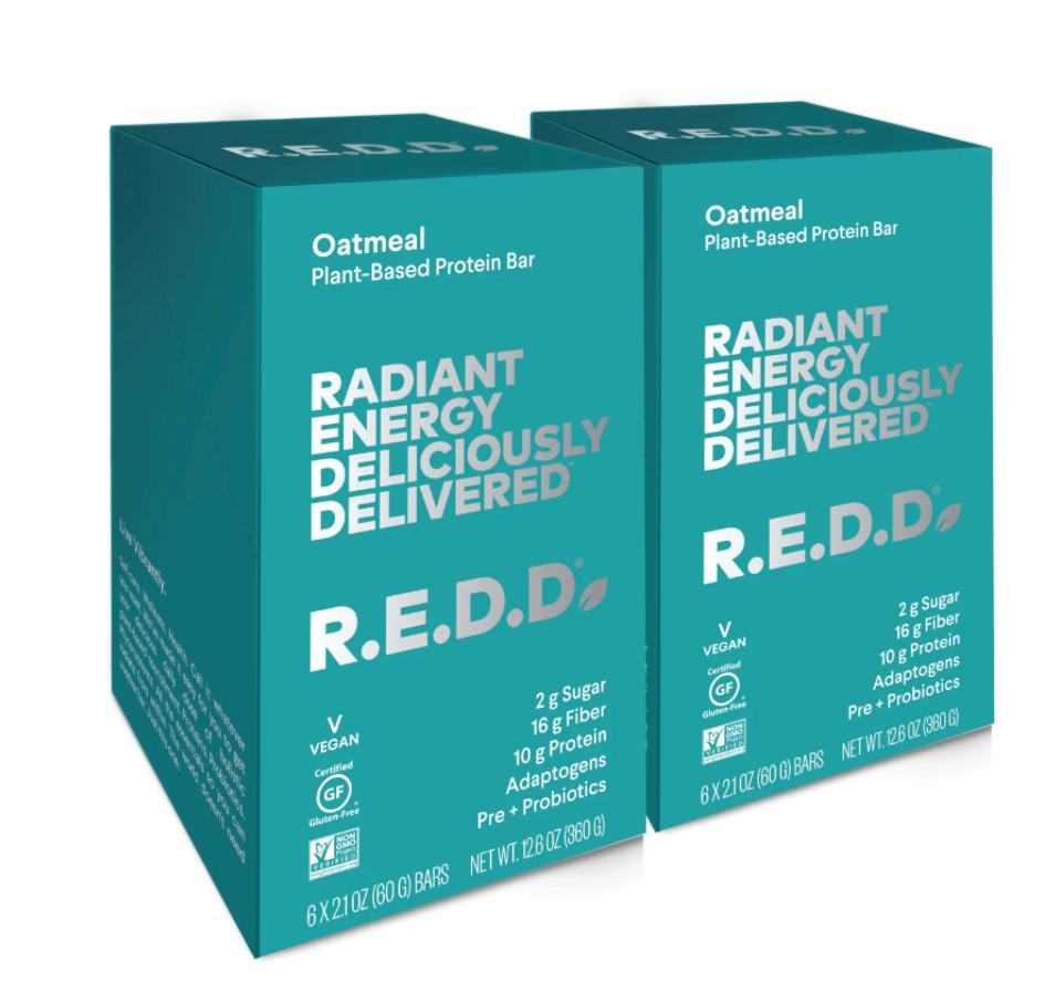 R.E.D.D. Bar Oatmeal Plant-Based Protein Bar - 12 Pack ($36)