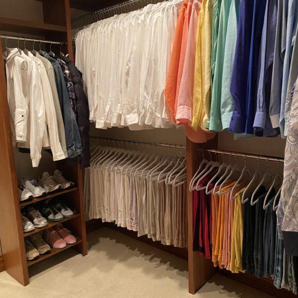 How Kim Stewart Organized Rod Stewart's Closet