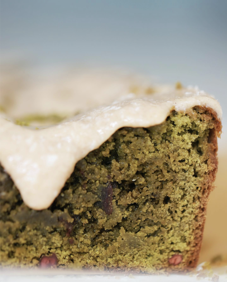 Gluten-Free Matcha Cake with frosting
