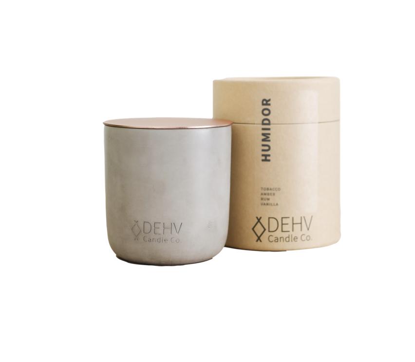 Dehv Candle Co. Humidor - Grey $38