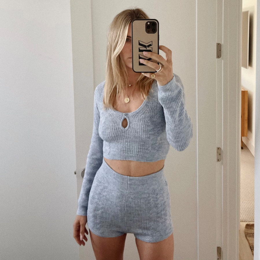 Katie Durko Karvinen 8 Months Postpartum selfie