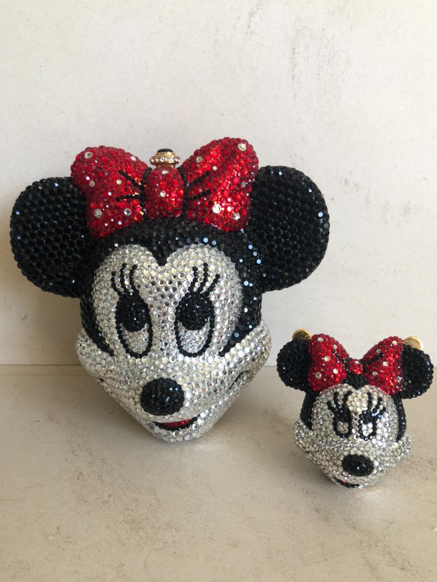 kourtney kardashian's crystal minnie mouse clutches
