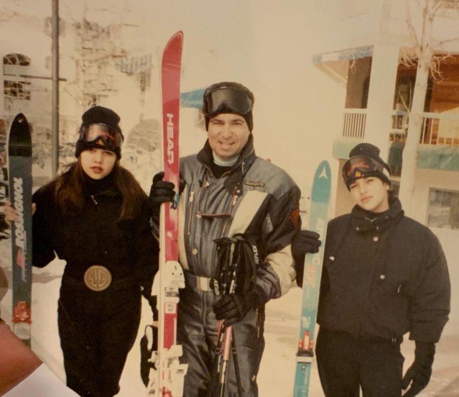 kim and kourtney kardashian skiing with dad robert