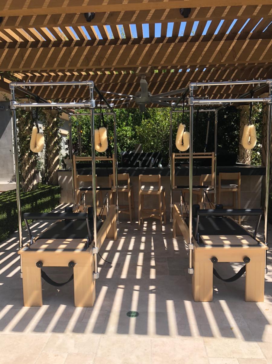 kourtney kardashian's at home pilates equipment