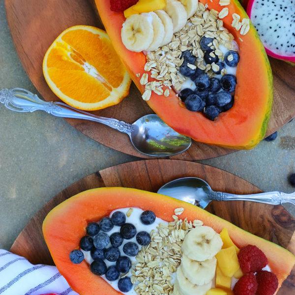 How to Make Papaya Breakfast Boats