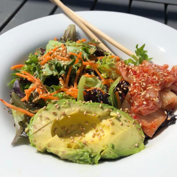 A Kimchi Avocado Salad in Under 10 Minutes