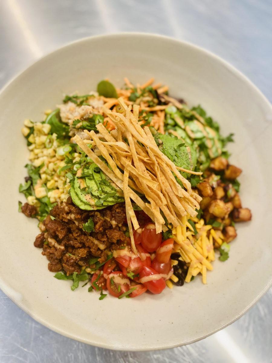 kim kardashian's Vegan Taco Salad Bowl