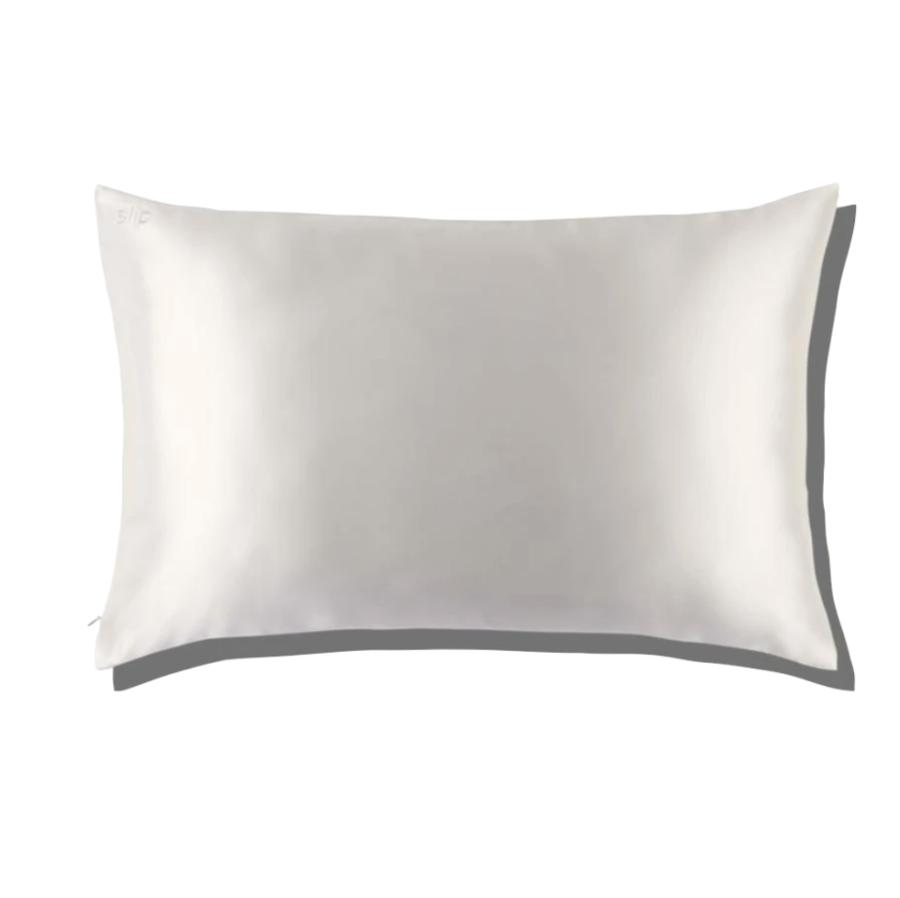 Slip Silk White Queen Zippered Pillow Case $89