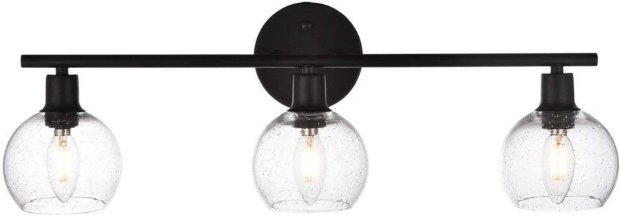 Winshen 3-Lights Globe Shade Bathroom Vanity Light ($86)