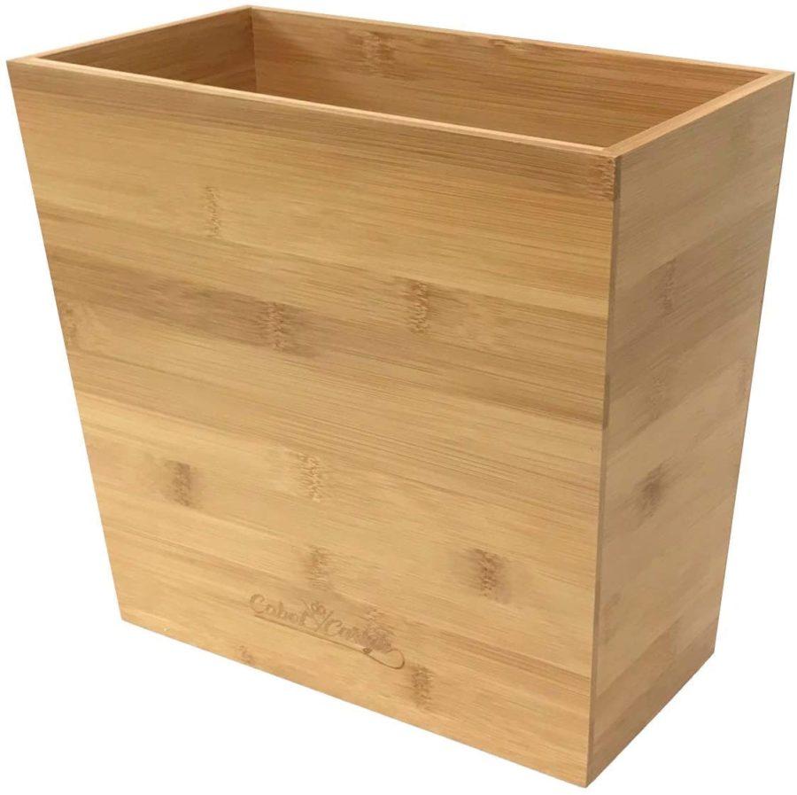 Cabot & Carlyle Bamboo Waste Basket ($31)