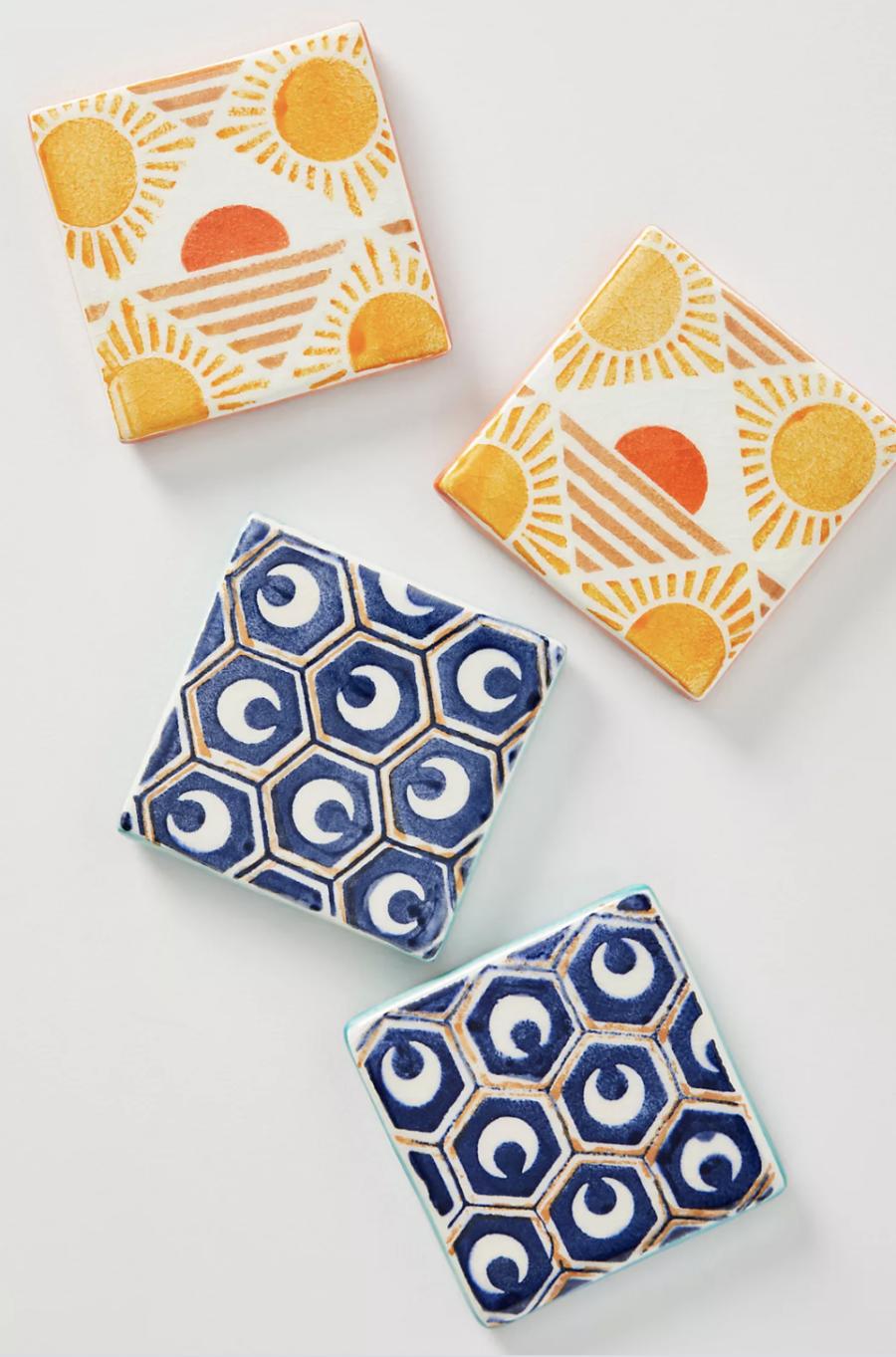 Anthropologie Azulejo Tile Coasters ($48)
