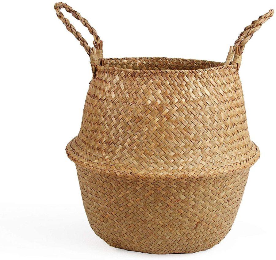 BlueMake Woven Seagrass Belly Basket ($16)