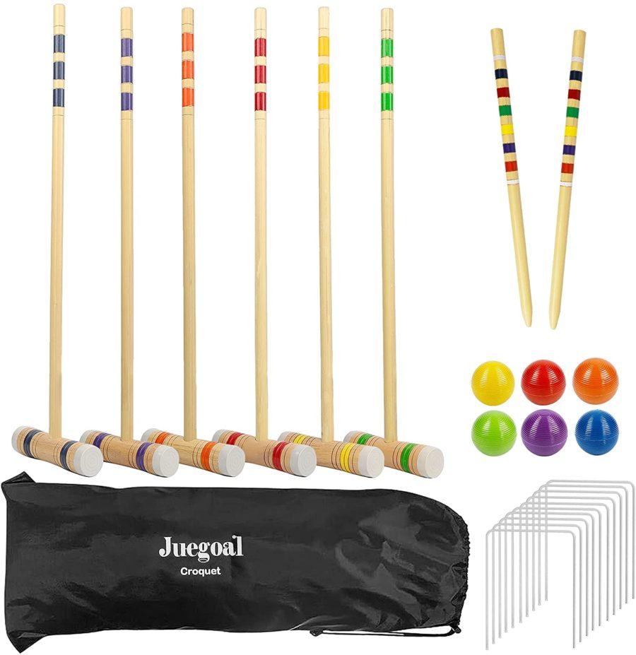 Juegoal Six Player Deluxe Croquet Set ($41)