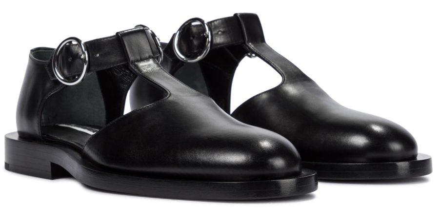 Jil Sander Buckled Leather Ballet Flats ($850)
