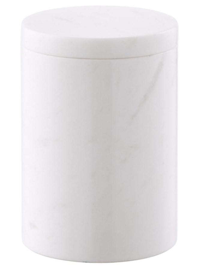 The Container Store Large Round Marble Canister ($20)