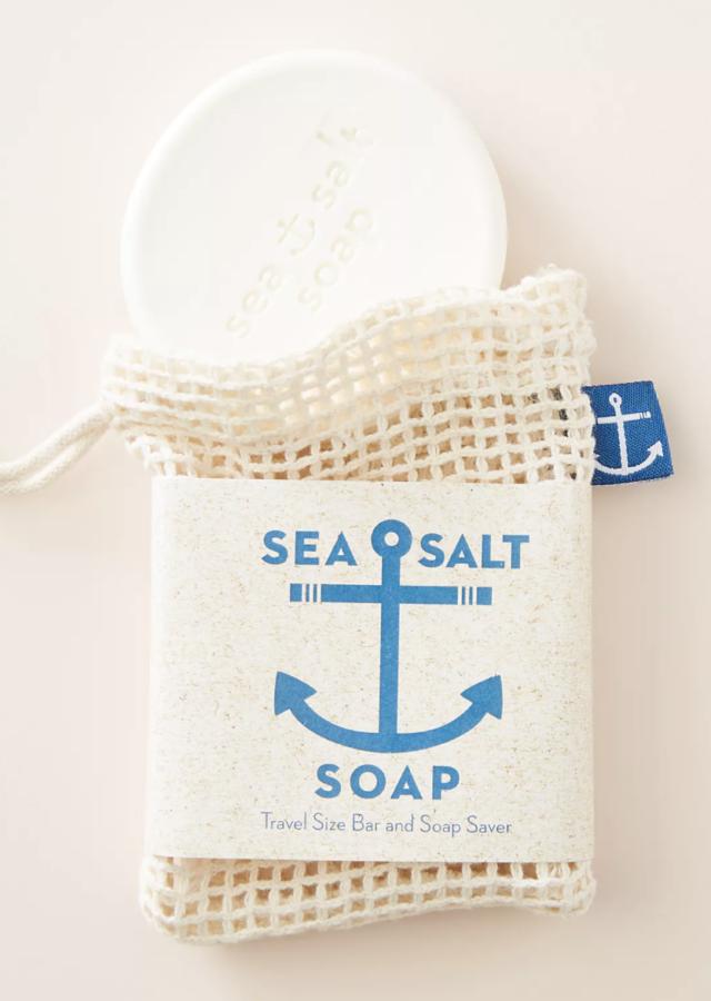 Anthropologie Sea Salt Bar Soap with Soap Saver ($8)