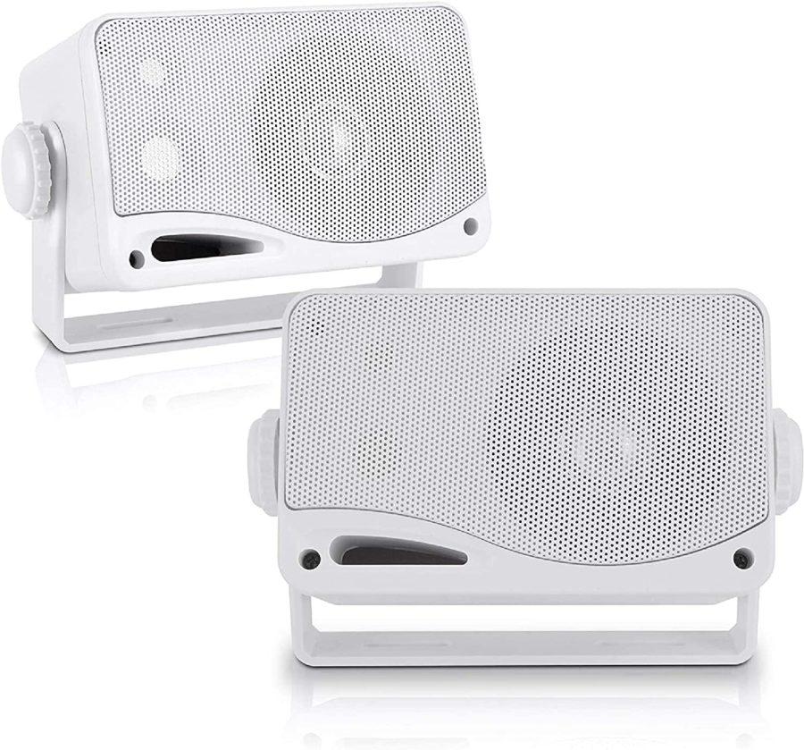 Sound Around Weatherproof Outdoor Speaker Set ($25)