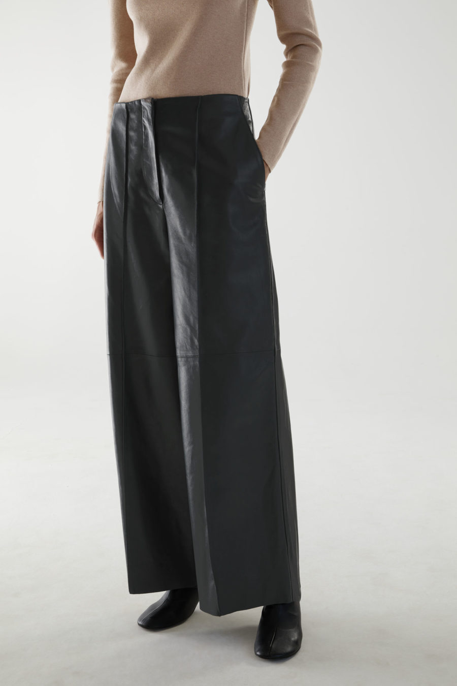 COS Long Leather Pants ($390)