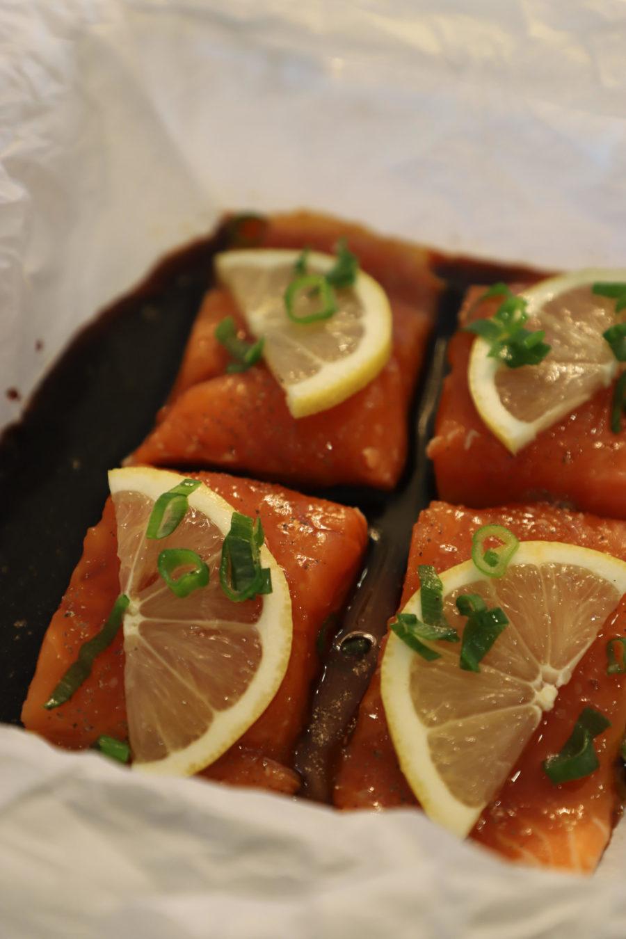 Photo of Honey Soy Salmon Squares