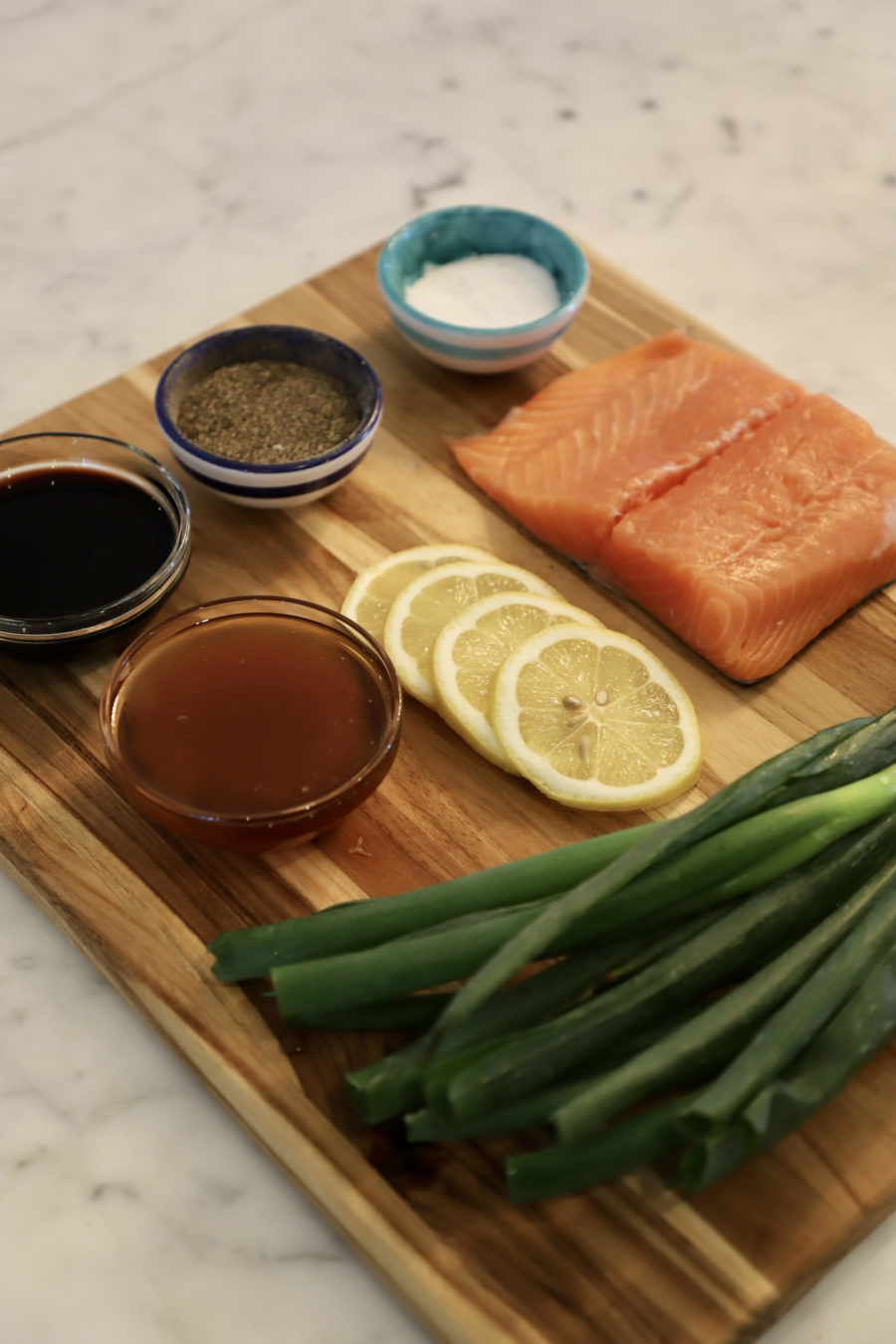 Ingredients for Honey Soy Salmon Squares