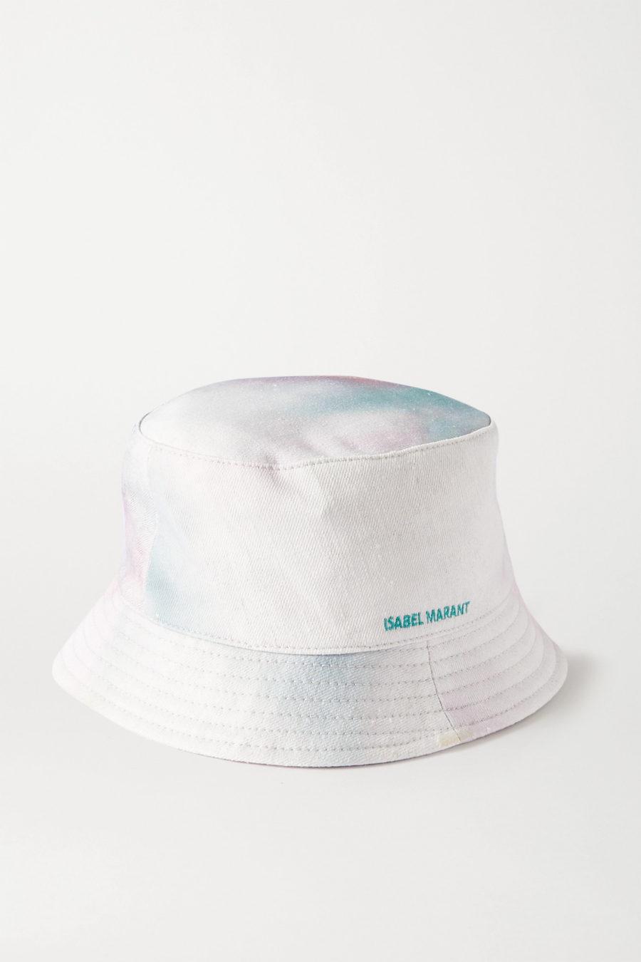 Isabel Marant Haley tie-dyed slub cotton-canvas bucket hat ($160)