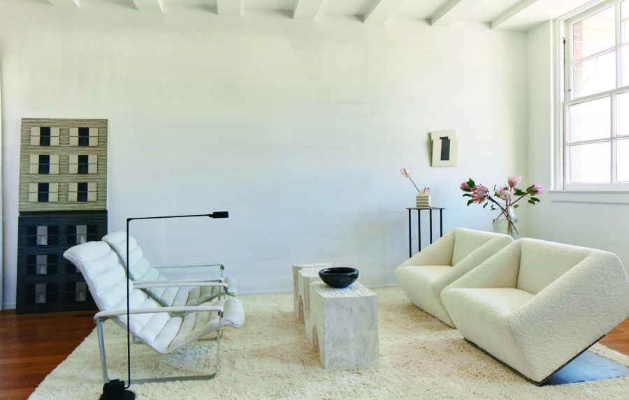 White colored living room
