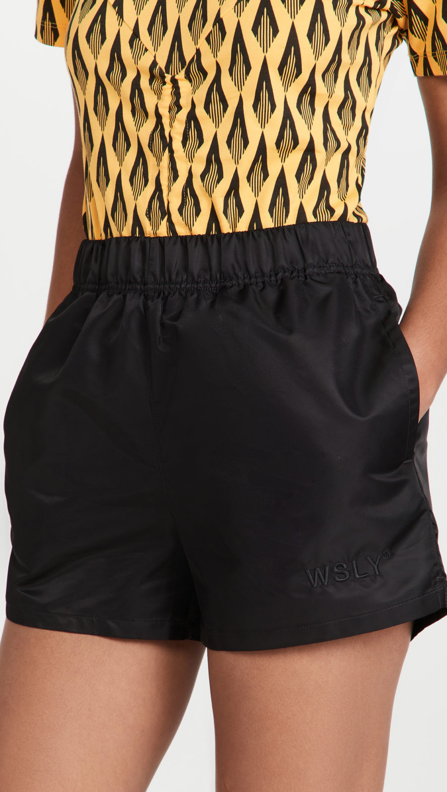 WSLY High Waist Nylon Shorts ($88)