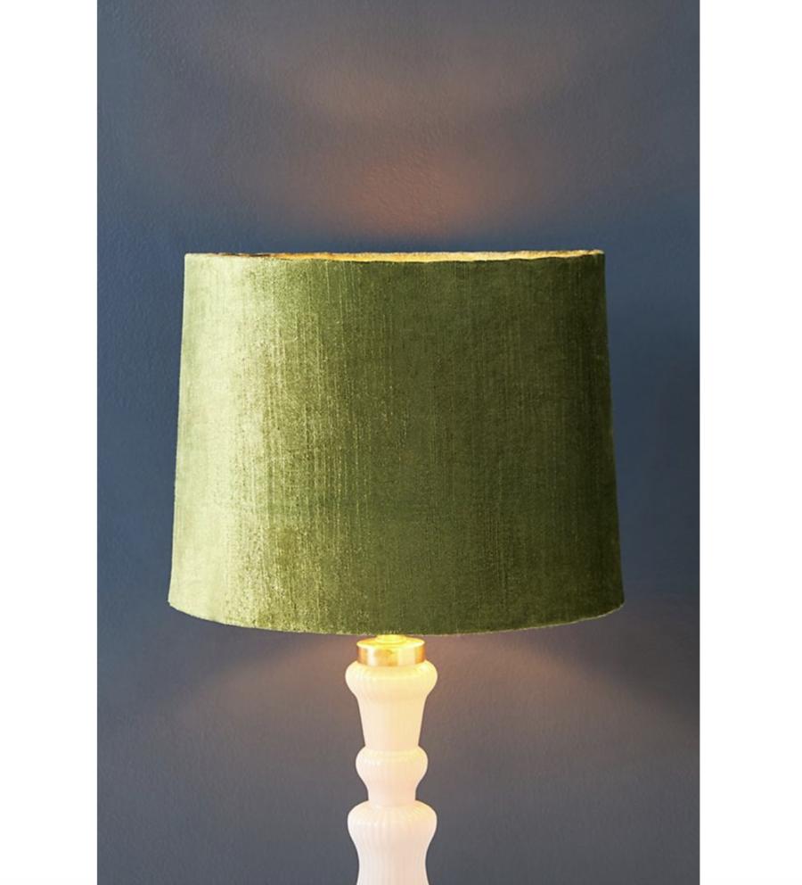Anthropologie Solid Velvet Lamp Shade $78