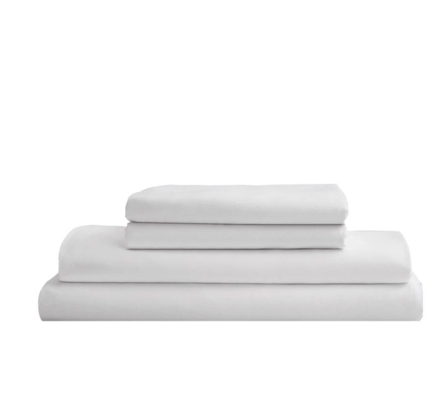 Sijo Home Eucalyptus Sheet Set in Snow $145